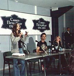 The press conference with David Gahan in St-Petersburg 2003